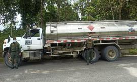 En acciones contra la minería ilegal incautamos 5.906 galones de ACPM