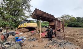 En el corregimiento de Tutunendo Chocó intervenimos dos entables mineros.