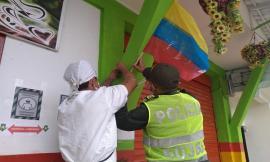 Más de 100 banderas adornaron el corregimiento de Santa Ana