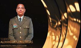Ganador Excelencia Policial-Teniente Alexander Florez..