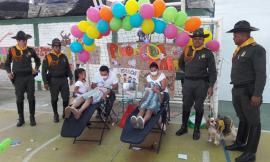 Policía Nacional compartió con los niños y niñas del norte de Nariño