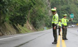 Policía Nacional reporta un positivo comportamiento en las vías de Nariño