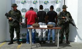 Capturados por el delito de tráfico de estupefacientes