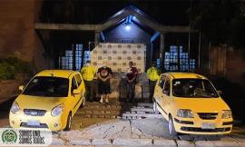 incautación de droga e inmobolización de dos taxis