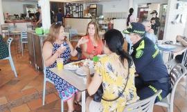 En la intervención que se realiza en la ciudad, venimos brindando acompañamientos a restaurantes y sector comercial de la ciudad