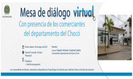Invitamos a la comunidad a participar en la mesa de dialogo presencial y virtual, con enfoque en derechos humanos y paz