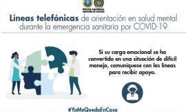 líneas telefonicas para la salud mental