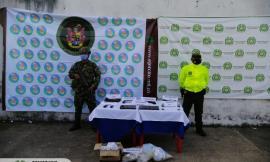 En coordinación con el Ejército Nacional, incautamos importante material bélico