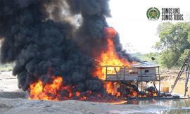 Operativo contra la minería ilícita en el Chocó