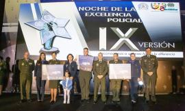 Ganadores de la noche de la excelencia policial