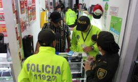 Mediante operativos adelantados en establecimientos comerciales se consultaron 1.363 imei