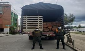 Incautamos madera y combustible en el Chocó