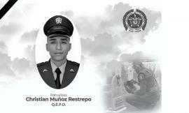 patrullero Christian Muñoz Restrepo.