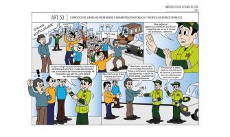 Ejercicio del derecho de reunión y manifestación pública y pacífica en espacio público