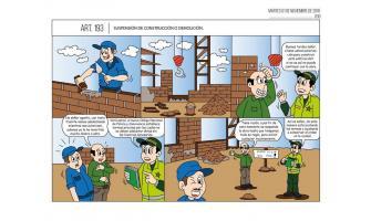 Suspensión de construcción o demolición