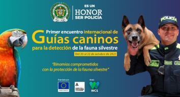 Anuncio encuentro internacional de guías caninos para la detección de fauna silvestre