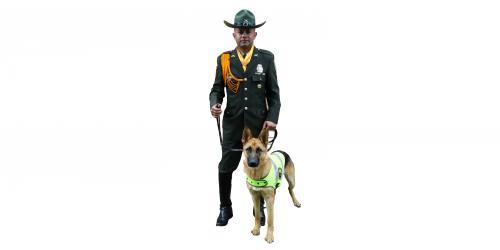 Uniforme de los Guías Caninos de la Policía Nacional
