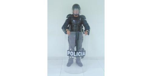 Uniforme de los Escuadrones Móviles Antidisturbios - Equipos de protección - de la Policía Nacional