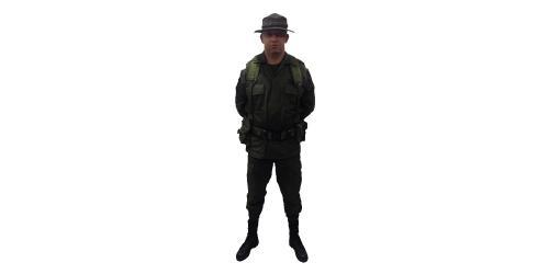 Uniforme de EMCAR con Pava de la Policía Nacional