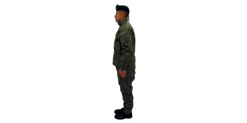 Uniforme de los Comandos Jungla de la Policía Nacional - No.1-Lateral Izquierdo