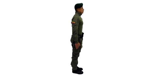 Uniforme de los Comandos Jungla - No.2-Lateral Derecho