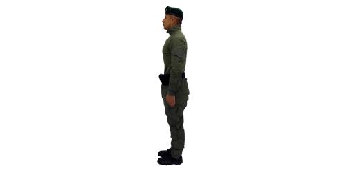 Uniforme de los Comandos Jungla - No.2-Lateral Izquierdo