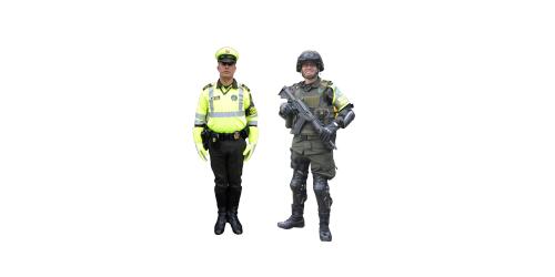 Uniforme de Transito y Transporte de la Policía Nacional