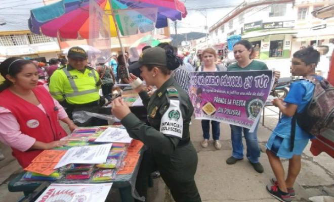 campaña preventiva del uso de la pólvora