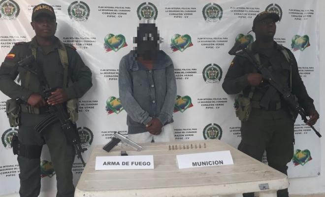Capturado por porte ilegal de armas de fuego