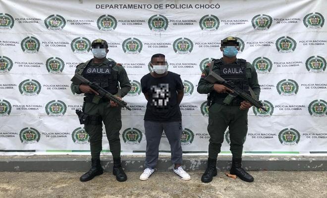 """Capturado-presunto-jefe-de-sicarios-del-grupo-armado-organizado-""""clan-del-golfo""""-en-Quibdó."""