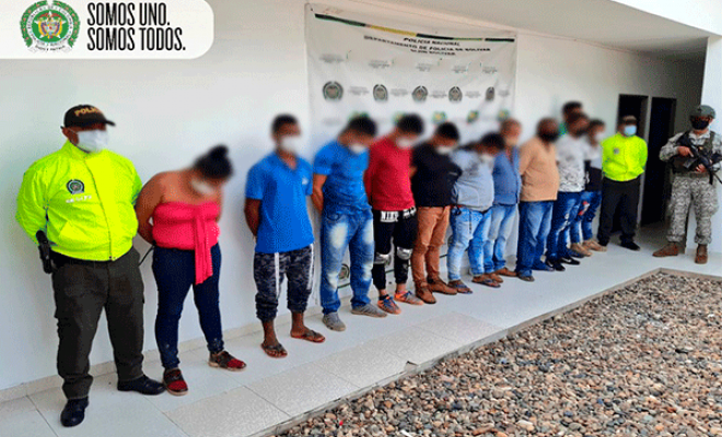 """Operación """"ODIN Caribe"""" contra el Clan del Golfo, permitió la captura de 11 personas en el sur de Bolívar"""