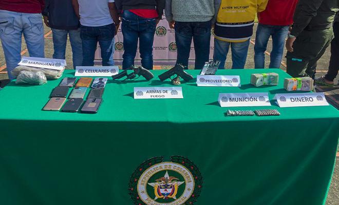 Cayeron 'Los Flacos', dedicados al homicidio selectivo y tráfico de estupefacientes en el eje cafetero y el Valle del Cauca.