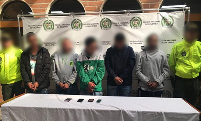 Capturados 5 presuntos integrantes del grupo delincuencial 'pachelly' de Bello