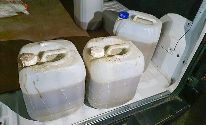 Incautamos más de 70 kilogramos de cocaína en estado líquido