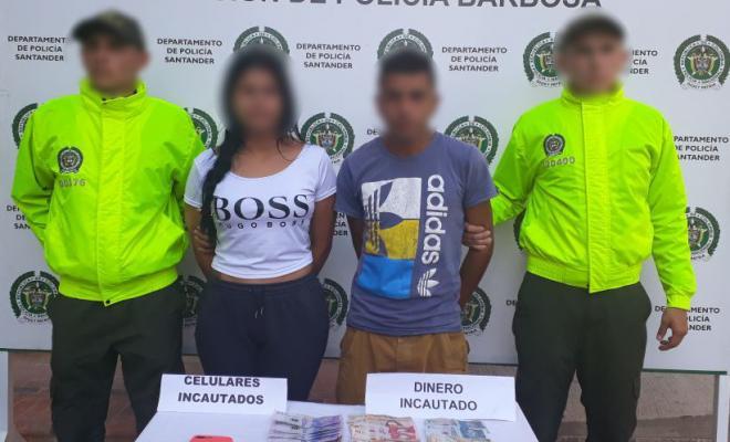 Amado pagar Farmacología  Capturamos pareja por el delito de extorsión | Policía Nacional de Colombia