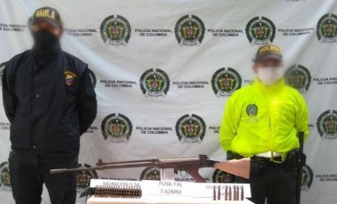 hallazgo fusil y material de guerra-fundacion-plan choque-contra el homicidio-cartuchos de fusil