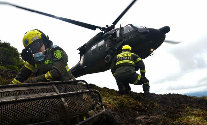 busqueda y rescate policia de colombia-tragedia aerea-chapecoense