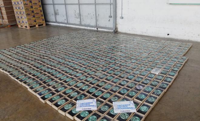 Incautamos 1.100 kilos de clorhidrato cocaína en el puerto de Santa Marta ocultos en cajas de frutas