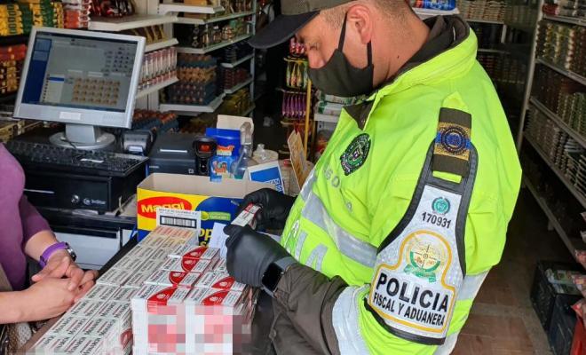 Lucha contra el contrabando de cigarrillos