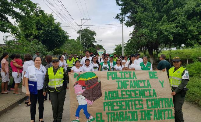 Marcha estuvo acompañada por padres niños y niñas
