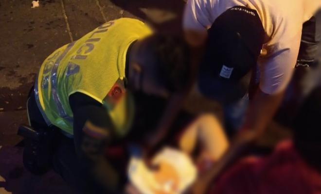 Patrulla del cuadrante atendió parto en vía pública del barrio Santo Domingo de Valledupar