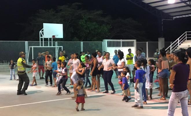 prevención ciudadana-pueblo nuevo-ruta de la prevención ciudadana-ariguani-el dificil-baile