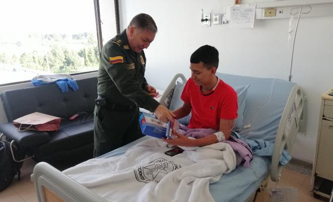 visita del señor Brigadier General Pablo Antonio Criollo Rey