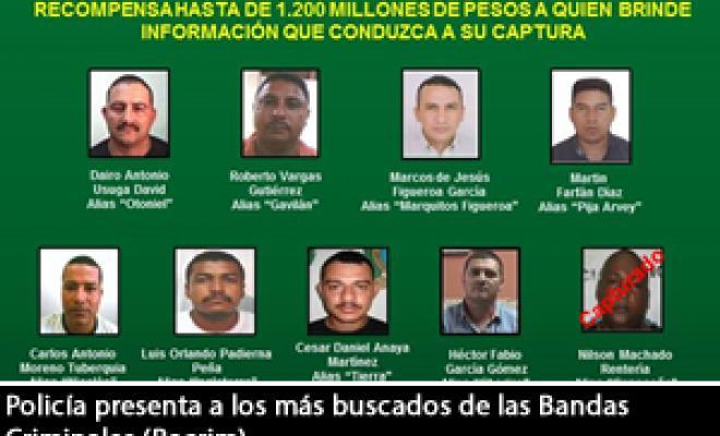Policía Presenta A Los Más Buscados De Las Bandas Criminales