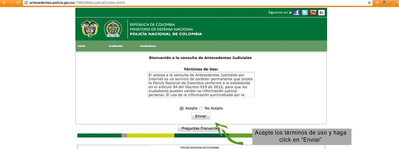 certificado de antecedentes judiciales internet
